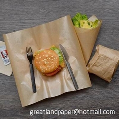 New greaseproof Waterproof Craft Color Wrap Fast Food Sandwich Products Wrapping