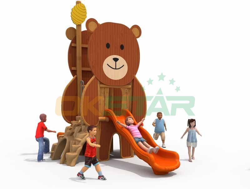 Outdoor wooden playground cheap equipment for kindergarten facilities 1