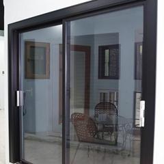 Aluminium Thermal Break Profile Cost-Effective Double Glazed Round Awning Window