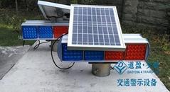 重庆太阳能磷酸铁锂电池高品质警示爆闪灯施工安全闪烁灯