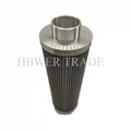 External threaded stainless steel filter