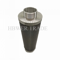 External threaded stainless steel filter element 316 304 material stainless stee