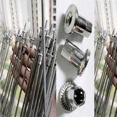 304不鏽鋼拉鉚螺母 實芯防護網螺母 隱形防護網