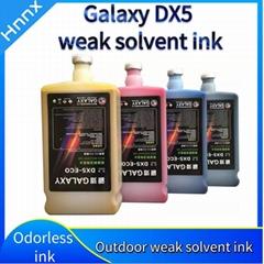 Weak solvent ink GALAXY Epson outdoor DX5 printer ink