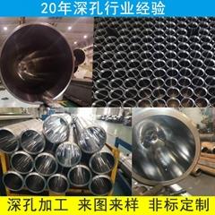 非标来图精密机加工圆钢无缝管钻孔 油缸缸筒镗孔 镗削 深孔加工