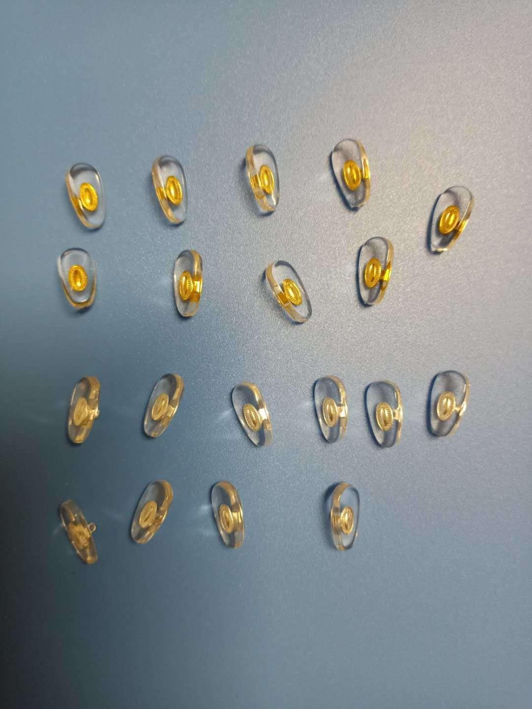 PVC软料米芯金色银色鼻托L-03 1