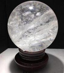 白水晶球擺件