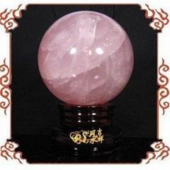 粉水晶球擺件