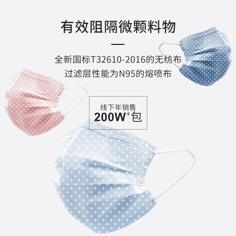 廠家現貨一次性水刺布口罩印花三層 4