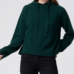 Cashmere Hoodie Forest Green