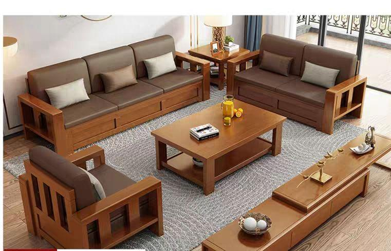 Chinese style soild woode  storage sofa 3