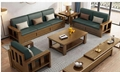 Chinese style soild woode  storage sofa 4