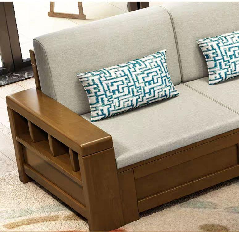 Chinese style soild woode  storage sofa 5