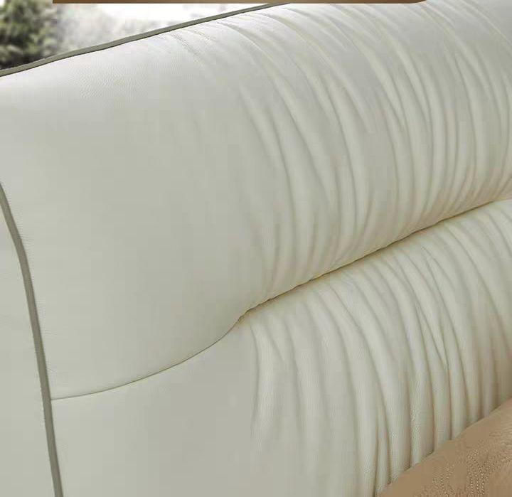 leather fashion soft bed 4