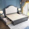 modern simple storage bed 5