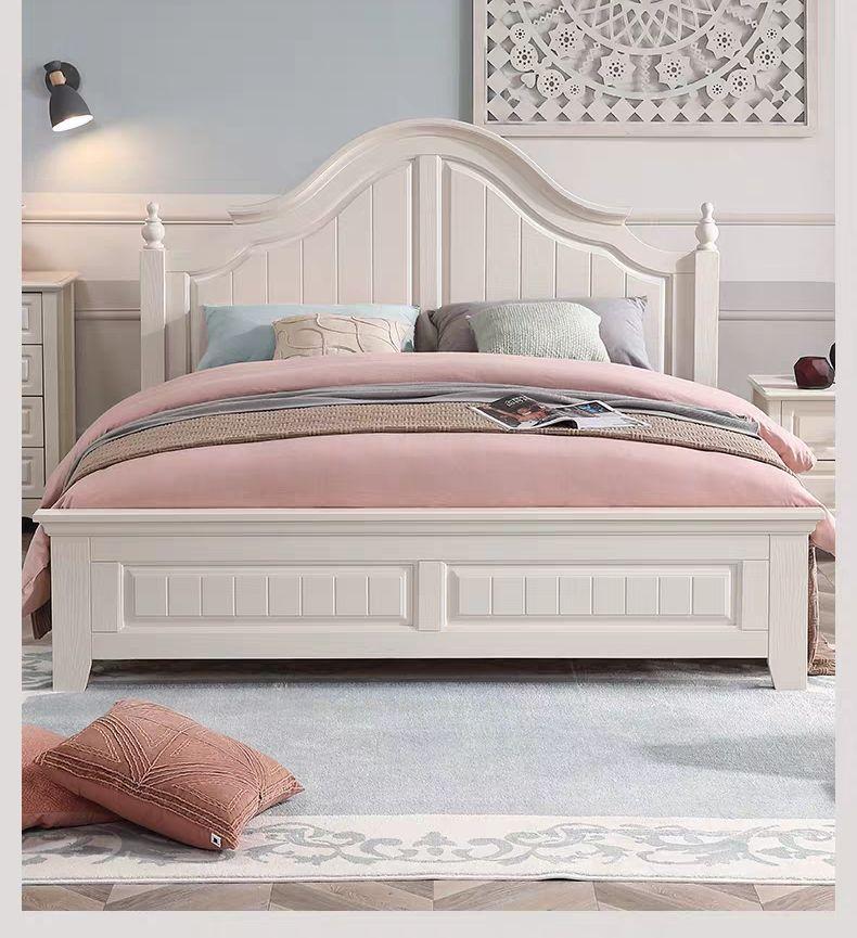 rural solid wood simple bed 1