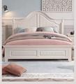 rural solid wood simple bed