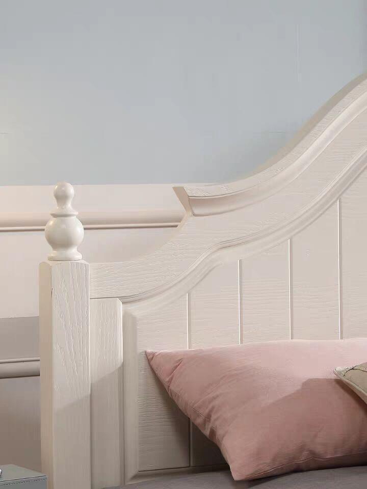 rural solid wood simple bed 3