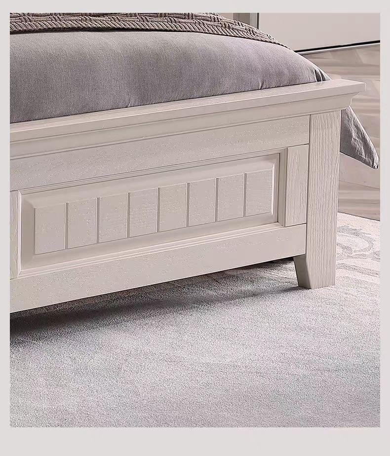 rural solid wood simple bed 5