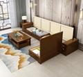 实木沙发组合现代新中式客厅木质家具橡胶木经济型组装中式木沙发 4