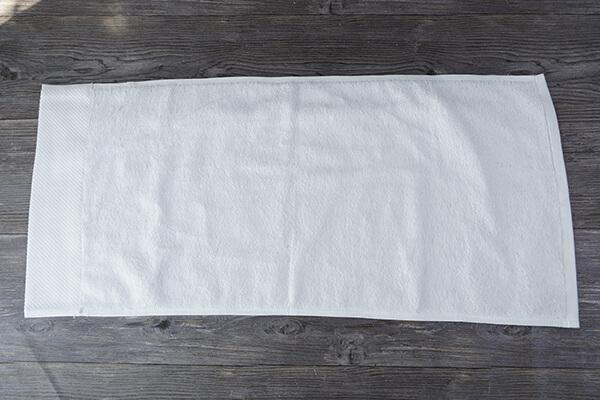 Wholesale cheap 100% cotton dobby white hotel hand towel 2