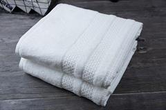 Custom star hotel supplies high quality pure white cotton towel