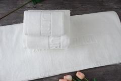 China Suppliers Cotton Pure White Towel Set, Jacquard Bath Towel