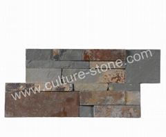 Rusty slate S shape culture stone panel