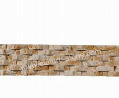 Golden wave culture stone panel