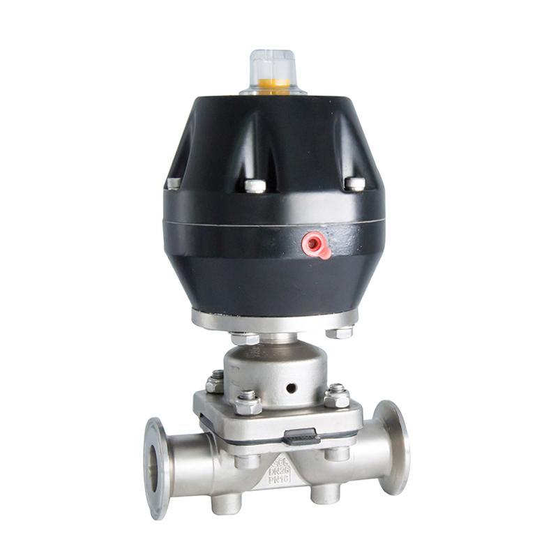 Casting 304 Sanitary Pneumatic Diaphragm Va  e with Plastic Actuator