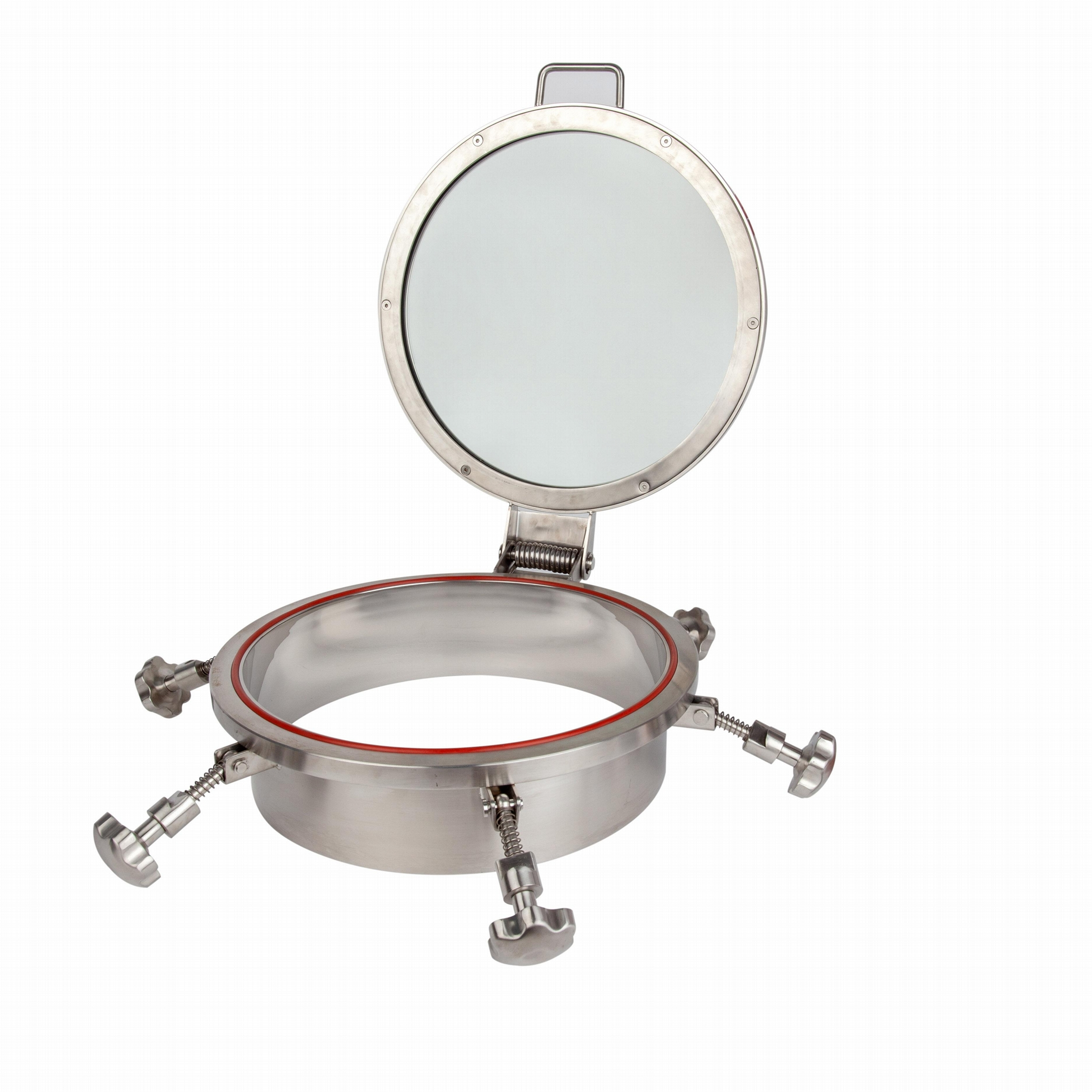 food beverage stainless steel manhole cover chemical sanitary man hole with sigh 5