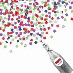 Boomwow New Design 100% Biodegradable Champagne Bottle Confetti Cannon