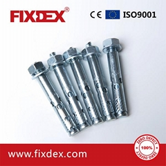 DIN933 Hex Bolt with Sleeve Anchor with Nut and DIN125 Washers High quality carb