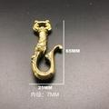 純銅U型鉤復古花紋diy配件汽車箱包挂飾金屬鑰匙挂鉤鑰匙扣 2