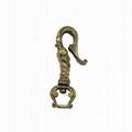 純銅U型鉤復古花紋diy配件汽車箱包挂飾金屬鑰匙挂鉤鑰匙扣 3