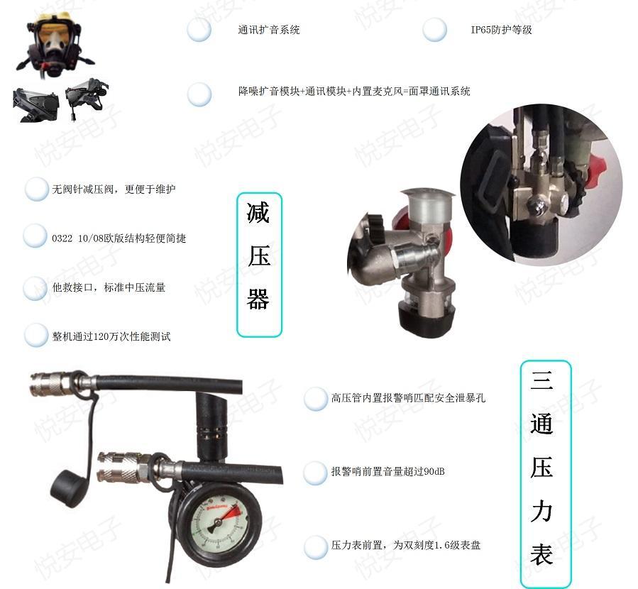 消防空氣呼吸器GA124-2004霍尼韋爾T8000 SCBA805搶險救援呼吸防護 3