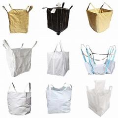河南圓筒形集裝袋炭黑噸袋噸包編織袋承重可定製尺寸