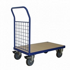 1102 Lbs Steel Bound Wood Deck Platform Truck