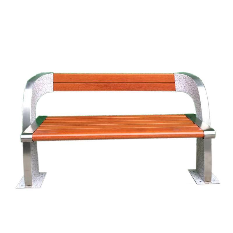 鑄鋁防腐木公園長凳子 5
