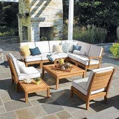 厂家制造庭院休闲柚木沙发茶几