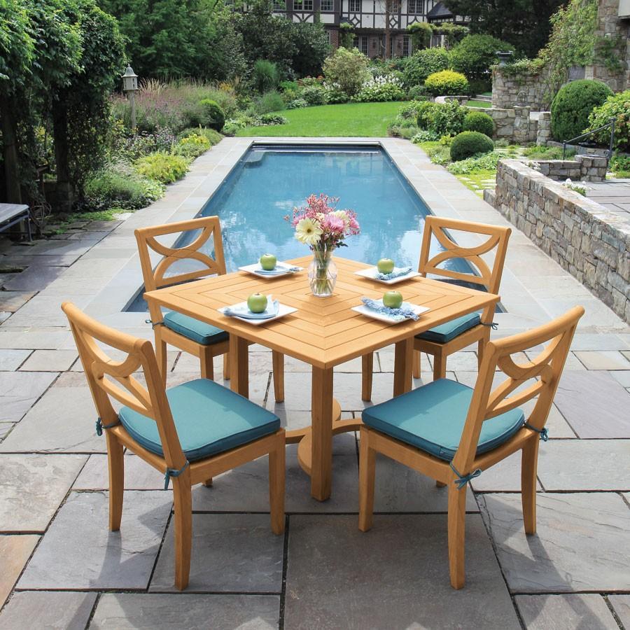 厂家供应景观区柚木桌椅茶几五件套 1