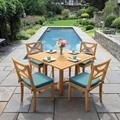廠家供應景觀區柚木桌椅茶几五件