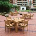 厂家供应景观区柚木桌椅茶几五件套 2