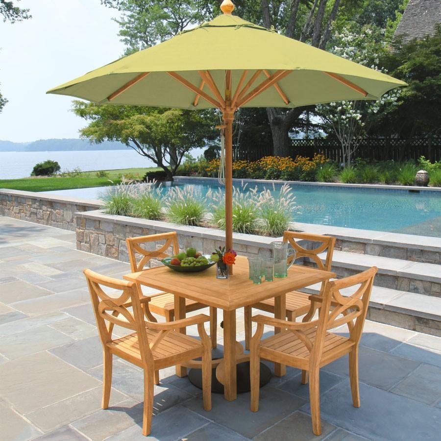 厂家供应景观区柚木桌椅茶几五件套 3
