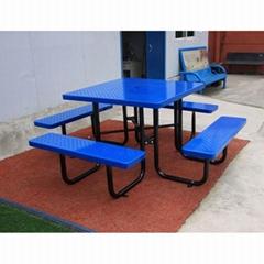 花园野餐户外金属桌椅套装园林休憩桌椅