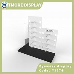 optical display rack with mirror