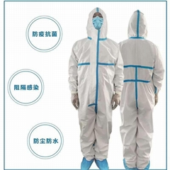 Disposable protective clothing ppe suit coveralls
