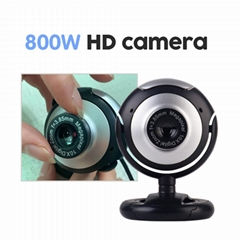 USB Home office Camera Rotatable Video Recording Web Camera with Microphone For