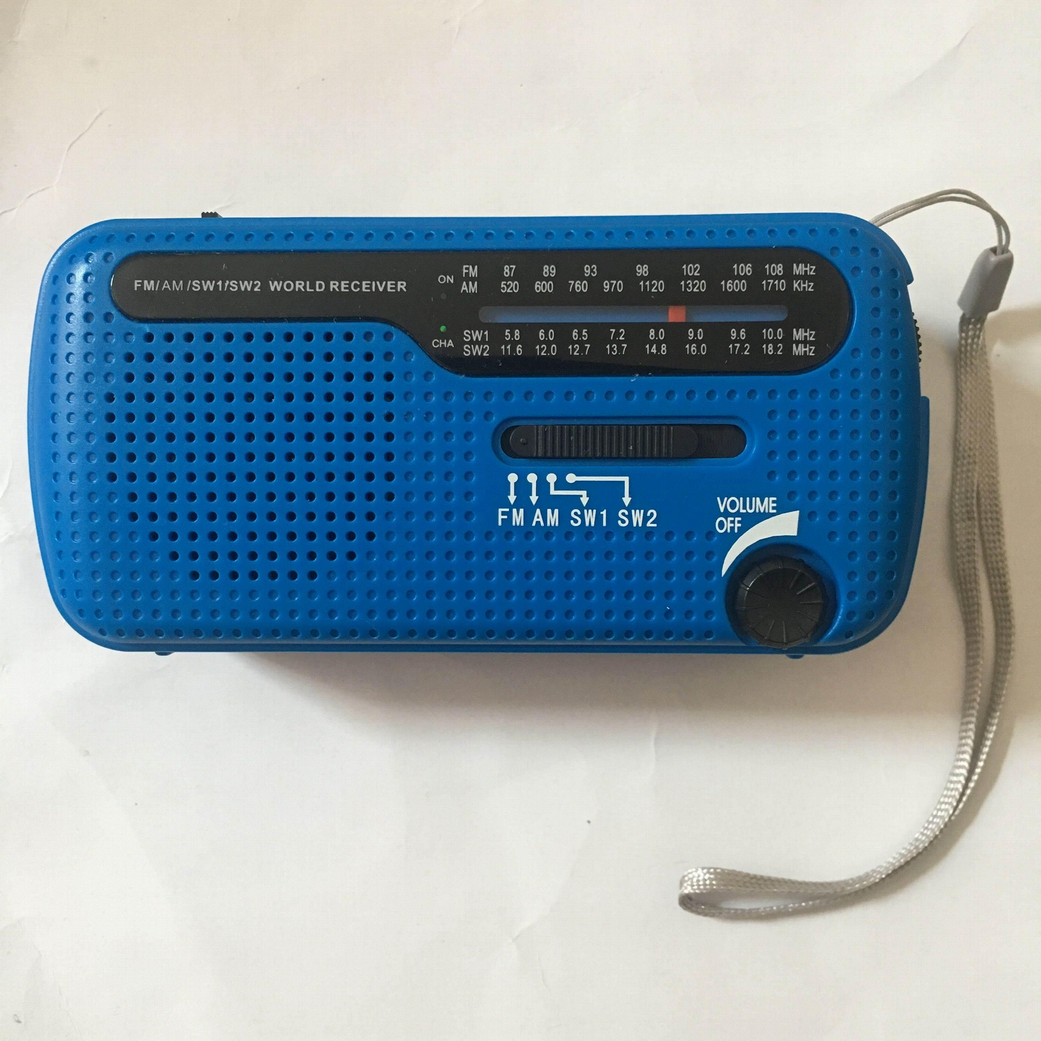 Portable Emergency Solar Crank AM/FM/SW Radio with LED Flashlight 1