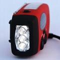 Solar Dynamo Crank AM FM radio with LED